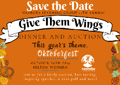 Orange Save the Date Auction